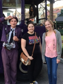Picture with the Knight Bus conductor.