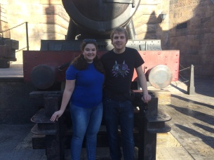 The Hogwarts Express (the photo posing one, not the riding one)