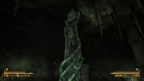 The obelisk in the chambers below the Dunwich Building