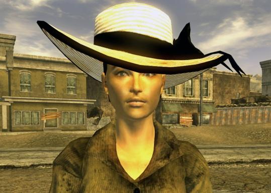Pauline wearing Vikki's bonnet.