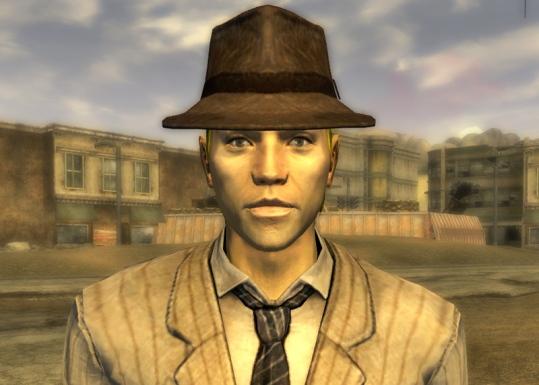 Sammy wearing Vance's lucky hat.