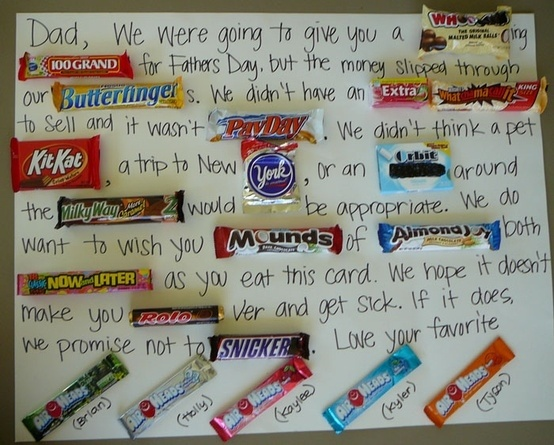 candy pun letter