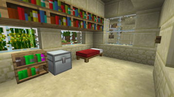 My simple home, I barely use the bed.