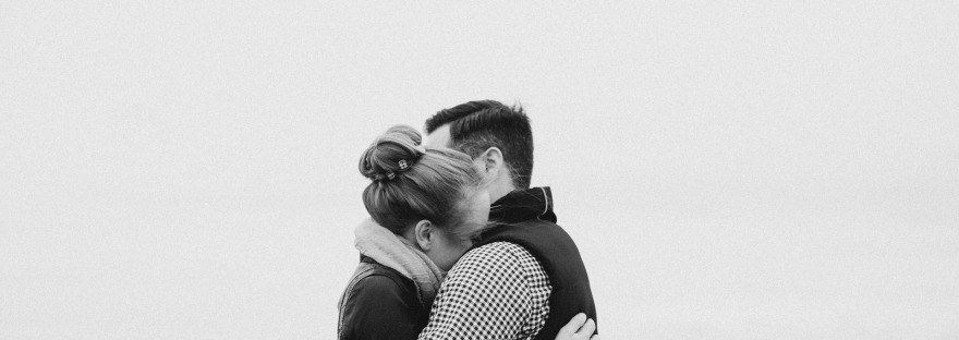 couple hugging support