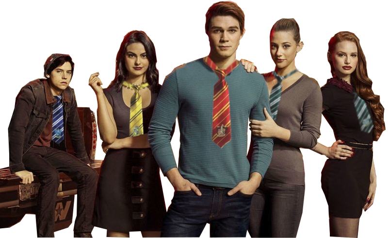 Riverdale Cast with Hogwarts Houses